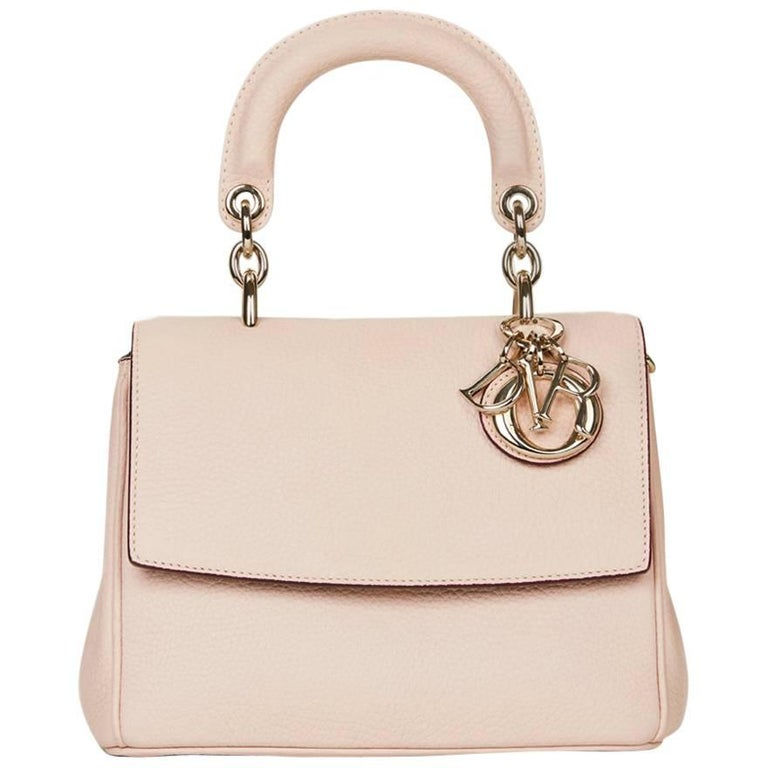 183c6969fd 2014 Dior Rose Poudre Grained Calfskin Mini Be Dior Flap Bag at 1stdibs