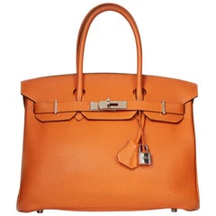 2009 Hermès Orange H Togo Leather Birkin 30cm