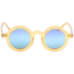 Jean Paul Gaultier Vintage Round Sunglasses 90's Japan - yellow