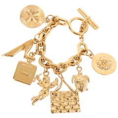 Chanel XL Iconic Charms Chain Bracelet Vintage - gold