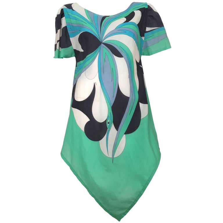 Emilio Pucci 970s Cotton Handkerchief Dress Size 4/6. For ...