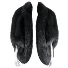 Yves Saint Laurent AW 1998 Haute Couture Black Fox Fur Chubby Cape