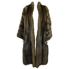 Yves Saint Laurent 1990's Haute Couture Russian Barguzin Sable Coat Stole