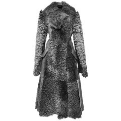 Proenza Schouler Fall 2015 Runway Swakara Gray Lamb Shearling Coat