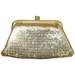 60s Whiting & Davis Gold Mesh Coin Purse/Wallet