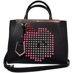 Fendi 2jour Satchel Apple Bag (Black, Size - OS)