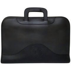 "Ghurka Attache No. 24 Leather Portfolio Briefcase (Black, Size - 16"" X 11"" X 1.5"