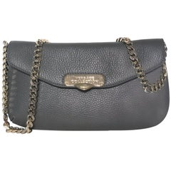 """Versace Collection Leather Shoulder Bag (Gray, Size - 10.5""""x6""""1.5"""")"""