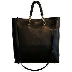 Tom Ford Leather Tote Bag (Black, Size - OS)
