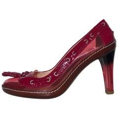 Celine Magenta Pumps 80 NIB Heels (Pink, Size - 7)