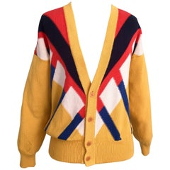 1980s Gucci V-Neck Cardigan Sweater