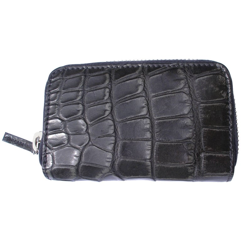 19eeab324a09 GUCCI Black Alligator Card case Rétail Price $1400 / Brand NEW For Sale