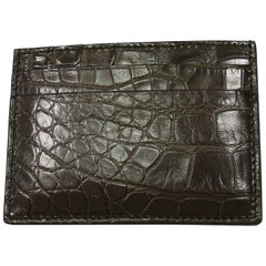 GUCCI Crocodile Card Case Millémiun color Rétail Price $ 820 / BRAND NEW