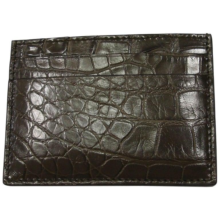 GUCCI Crocodile Card Case Millémiun color Rétail Price $ 820 ...