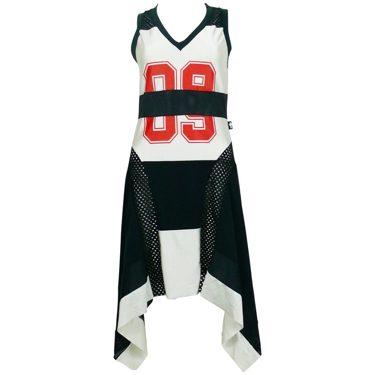 Jean Paul Gaultier Vintage Basketball Jersey Dress Size S