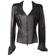 Alexander McQueen Grommets Leather Jacket