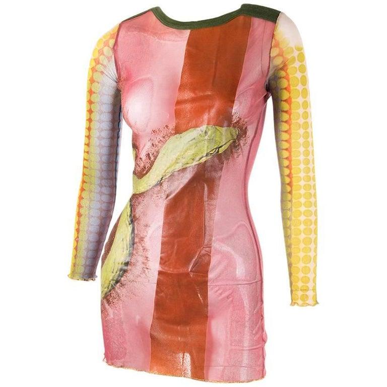 Jean Paul Gaultier Sheer Printed Dress 1