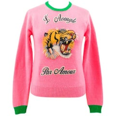 Gucci Iconic Bubble- Gum Pink Wool Sweater