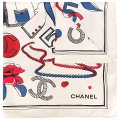 Chanel Vintage Icon Print Scarf