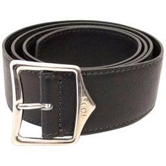 Tod's Black Leather Belt