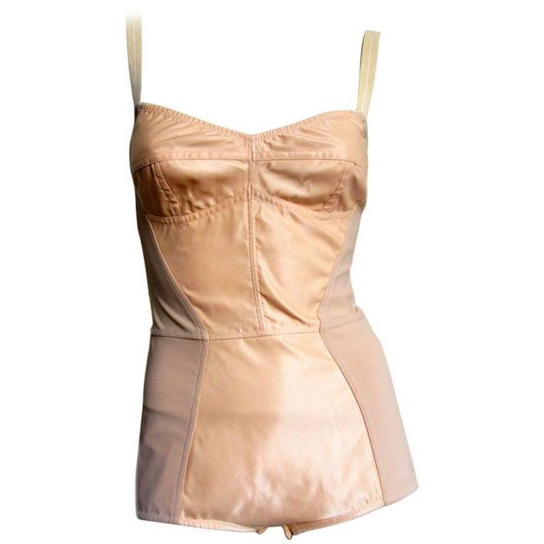 DOLCE & GABBANA Nude Bodysuit