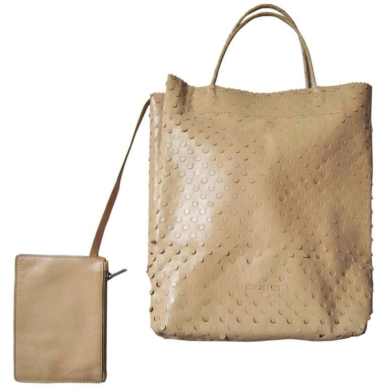 b6fafd357bdb HELMUT LANG Taupe Leather BUNKER Tote Handbag 2011 at 1stdibs
