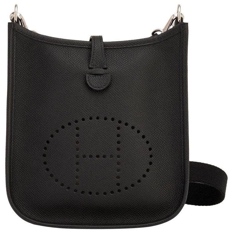 Hermes Black Evelyne TPM Shoulder Cross Body Messenger Bag 1