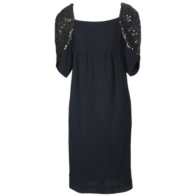 Chanel Sequined Sleeve Dress