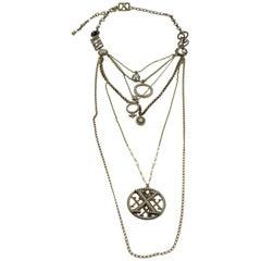 Jean Paul Gaultier Paris Vintage Rare XX Multi-Strand Long Necklace