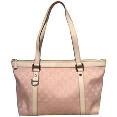Gucci Pink Monogram Medium Abbey Shoulder Bag Tote