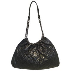 Chanel Black Quilted Caviar Leather Shoulder Bag Tote