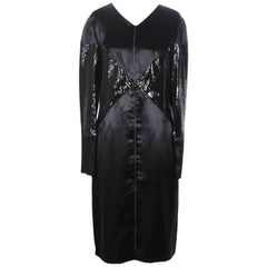 Chanel Sequins and Satin Long Sleeve Dress