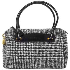 Dolce & Gabbana Black & White Tweed Herringbone Bag