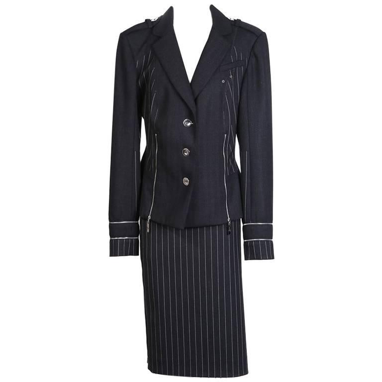 John Galliano for Christian Dior Wool Pin Striped Blazer