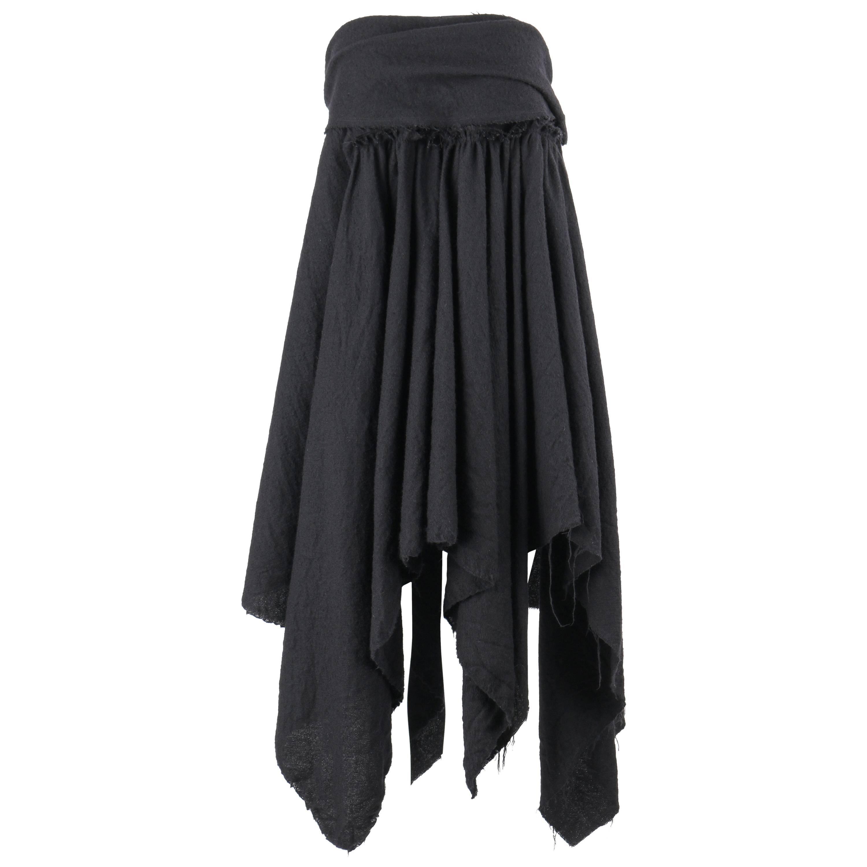 COMME DES GARCONS A/W 2003 Black Wool Handkerchief Hem Convertible Dress / Skirt