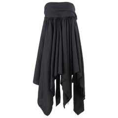 COMME DES GARCONS A/W 2003 Black Wool Handkerchief Hem Convertible Dress / Skirt
