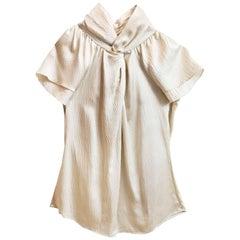 Christian Dior Cream Silk Blouse Sz 8