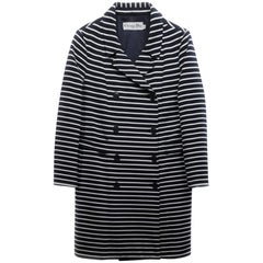 Christian Dior Navy & White Striped Double Breasted Jacket Sz 6