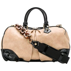 Louis Vuitton Limited Edition Nude Black Mono Top Handle Satchel Shoulder Bag
