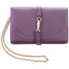 Gucci Amethyst Leather Wallet On Chain Shoulder Bag