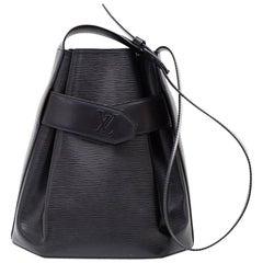 Vintage Louis Vuitton Sac Depaule PM Black Epi Leather Shoulder Bag