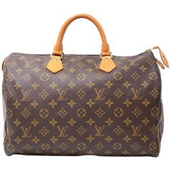 Vintage Louis Vuitton Speedy 35 Monogram Canvas City Hand Bag