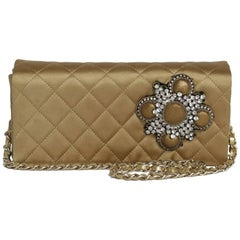 CHANEL Couture Evening Flap Bag in Coppered Silk Satin