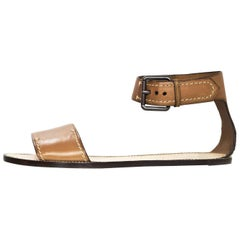 Reed Krakoff Tan Leather Sandals Sz 40 NEW