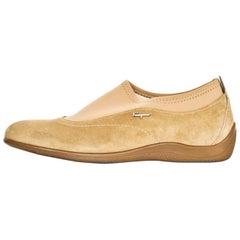 Salvatore Ferragamo Tan Suede Shoes Sz 37