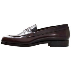 TOD's Brown Leather Loafers Sz 36.5