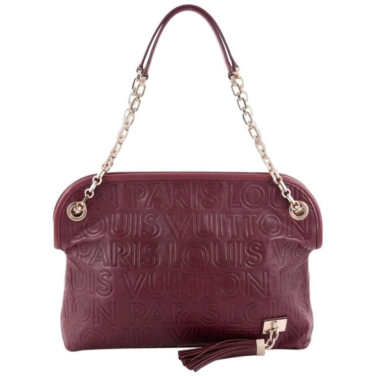 Louis Vuitton Limited Edition Paris Souple Leather Wish Bag
