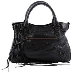 Balenciaga Town Classic Studs Handbag Leather