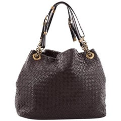 Bottega Veneta Belted Handle Tote Intrecciato Nappa Medium