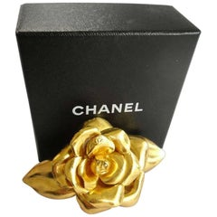 Vintage Chanel Large  Camellia barrette - hair clip